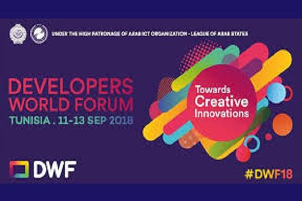Le Developers World Forum se tiendra du 11 au 13 septembre 2018 en Tunisie. C'est un évènement organisé par l'Organisation arabe des technologies de l'information et de la communication.